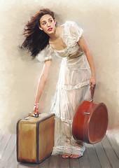 Viajera (zubillaga61) Tags: portrait painterly girl retrato corelpainter retoque emmyrossum rossum