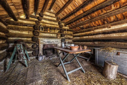 winter america washington log cabin unitedstates... (Photo: Frank C. Grace (Trig Photography) on Flickr)