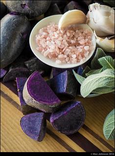 Roasted Purple Potatoes - Ingredients