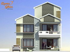Duplex House Design (ApnaGharhd) Tags: house design duplex