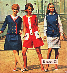 pennys 69 ss 3 red white blue (jsbuttons) Tags: 1969 clothing mod 60s buttons womens catalog 69 sixties pennys jcpenny vintagefashion