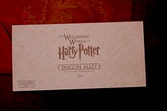 Diagon Alley preview invitation from Universal Orlando (insidethemagic) Tags: bar gold media florida ticket invitation press universalstudios universalorlando hogwartsexpress diagonalley gringotts wizardingworldofharrypotter