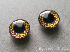 Milk & Dark Chocolate Brown and Gold Dots by Oly in Wonderland