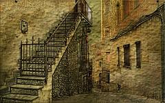 Lungo le strade di un piccolo borgo. (Laralucy) Tags: italy texture digitalart case sicily strade borgo sicilia postprocessing elaborazione centuripe magicunicornverybest magicunicornmasterpiece