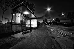 waiting for a bus facedown..... HFDT! 140/365 (popp1973) Tags: bw nikon busstop fisheye facedown fdt rokinon nikond7000 facedowntuesday rokinon8mmfisheye fishyfisheyethingy