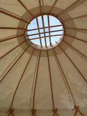 "Inside a mini yurt • <a style=""font-size:0.8em;"" href=""http://www.flickr.com/photos/61957374@N08/14301380853/"" target=""_blank"">View on Flickr</a>"