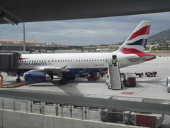Malaga Airport - Terminal 3 - planes - British Airways (ell brown) Tags: plane spain birmingham jets jet aeroplane espana planes costadelsol andalusia terminal3 britishairways malaga aeroplanes jetplane agp birminghamairport malagaairport aeropuertodemalaga flybe bhx mlagacostadelsolairport