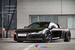 AUDI R8 GTR VCP 005 (VolksCarPhoto.com) Tags: black car low ace wheels audi tuning stance r8 carphotography dreamcar