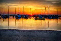 Morning Sun (Victor Rueda) Tags: sun lake beach water wisconsin clouds sunrise boat nikon yacht united milwaukee sail states