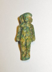 Rare Egyptian Glazed Composition Seated Harpokrates (Horus the Child) Amulet. Late Period to Ptolemaic Period (Clio Ancient Art) Tags: art greek ancient roman egyptian byzantine artifacts biblical islamic antiquities cypriot