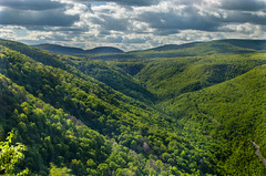 High View (Jason Dinelli) Tags: longexposure newyork mountains green nature water clouds rocks stream hiking hills views hdr rolling poetsledge