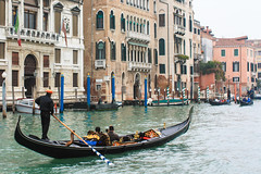 Gondolier on the Canal Grande (stubobart) Tags: venice italy hat river boat gondola waterway gondolier