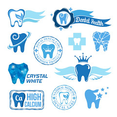 Set of dental decorative elements (icovery) Tags: blue silhouette sign set illustration idea design healthy shiny decorative paste teeth decoration icon calcium dental clean collection medical health doctor toothpaste simplicity medicine concept copyspace toothbrush care clinic whitening medic sick dentist protection healthcare cure vector hygiene pictogram isolated element recovery freshness heal clinical enamel orthodontics dentures caries stomatology stomatologist