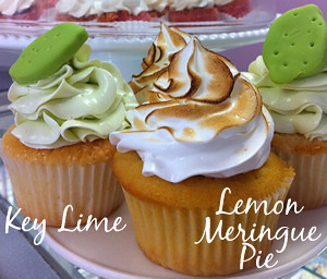Key Lime & Lemon Meringue Pie Cupcakes