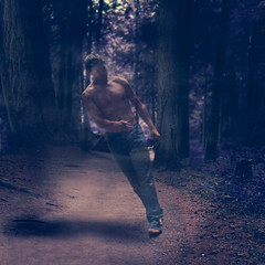 IMG_8790-2 (kim.yanick) Tags: trees boy portrait art fairytale woods spirit fineart fantasy dreamy apparition bookcovers darkart recordcover conceptualart conceptualphotography musiccoverart