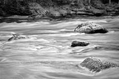 Rapids (TMax90) Tags: blackandwhite bw water rollei flow eos rocks rapids 25 rodinal 50e current r09 rpx