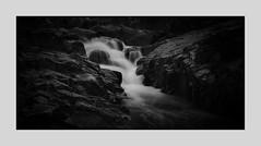 Flow (daz672) Tags: longexposure blackandwhite blur water river landscape mono waterfall moody walk minimal le blacknwhite 2485mm nikond600 nethercotefalls