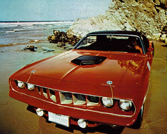 1971 Plymouth Cuda' Hardtop (coconv) Tags: pictures auto door old red 2 classic cars hardtop car vintage magazine ads advertising cards photo 1971 flyer automobile post image photos antique postcard ad picture plymouth images 71 advertisement vehicles photographs card p
