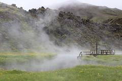 Geothermal hot springs in Landmannalaugar