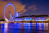 London Eye (ilias varelas) Tags: longexposure greatbritain travel england london eye water thames night river lights europe bluehour attraction canonef1740mmf4l seesights canoneos6d