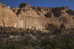 Desert Varnish Brightens a Cliff (Explored) (Jeff Mitton) Tags: sanrafaelswell coloradoplateau redrockcountry wondersofnature earthnaturelife