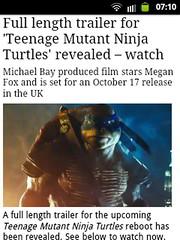 News Article - Teenage Mutant Ninja Turtles (daleteague17) Tags: news film turtles hero mutant leonardo michelangelo raphael nija donatello teenagemutantninjaturtles tmnt teenage turtlepower teenagemutantheroturtles