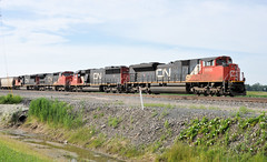 CN#8805 WEST SITTING AT VICKERS NORTHWOOD,OHIO 6-30-14 MONDAY (penn central 74) Tags: cn canadiannational vickers norfolksouthern northwoodohio emdsd60 emdsd70m2 nschicagoline wwwcnca cn8805 cn5445 nsdearborndivision 063014