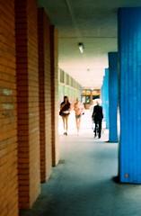 Vega II - Columns (Kojotisko) Tags: street city people streets vintage person czech streetphotography brno cc creativecommons vintagecamera czechrepublic streetphoto persons vega czechoslovakia superia200 druopta druoptar vega2 vegaii druoptar145f50mm