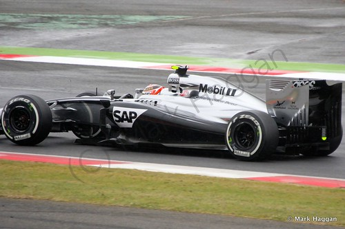 Kevin Magnussen Qualifying for the 2014 British Grand Prix