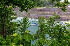 Niagara Falls - 32 (www.bazpics.com) Tags: bridge light usa newyork canada color colour fall nature water night river landscape flow niagarafalls boat waterfall rainbow scenery ship unitedstates natural drop tourists niagara falls american barryoneilphotography
