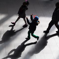 * (donvucl) Tags: colour london kids shadows squareformat kingscross donvucl olympusepl5