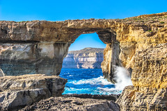 Azure Window (Jeffrey Heyman) Tags: blue wedding game window water mediterranean waves azure malta thrones gozo drogo danys khal targarian