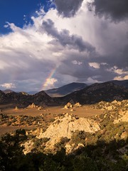 Inyo National Forest, Papoose Flat, Rainbow (darthjenni) Tags: california trip travel vacation landscape rainbow desert great basin mojave bishop owensvalley bigpine inyonationalforest inyomountains basinandrangeprovince 36e404