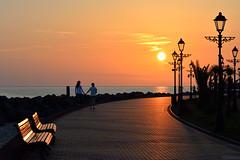 Walk to the sunset (Michael Babakov) Tags: street city sunset sea people geotagged nikon russia walk young seafront embankment rus d610 краснодарскийкрай молдовка geo:lat=4340020893 geo:lon=3994770515
