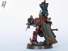 Zhufor the Impaler, Lord of the Skulltakers (Uruk's Customs) Tags: world red chaos space warhammer marines huron sorcerer wh40k eaters corsairs khorne zhufor skulltakers