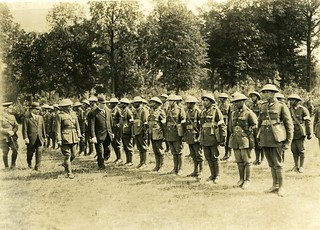 Massey and Ward inspecting Pioneer Maori Battalion Soldiers