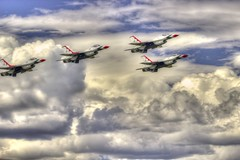 HDR-ThunderBirds (Duncan_Photography) Tags: alaska clouds airshow anchorage planes thunderbirds airforce hdr highspeedshutter jber