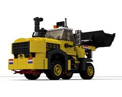 WL 1-1500 Wheelloader (The Driving Dutchman) Tags: building wheel lego equipment loader wl ldd wheelloader ldd2povray