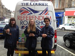 Courier Referendum Roadshow reaches Stirling, June 2014 (Scottish Political Archive) Tags: scotland stirling roadshow referendum courier 2014referendum