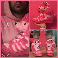 Adidas Jeremy Scott 💕 (mon monde a moi il n'y aurait que des divagations) Tags: poodle chaussure baskets adidasjeremyscott moschino jeremyscott adidas shoes poople nounours peluche rose pink