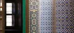 pillars and posts (diminoc) Tags: telouet morocco atlas islamicgeometry tiles carving window architecture kasbah perspective patterns contrast