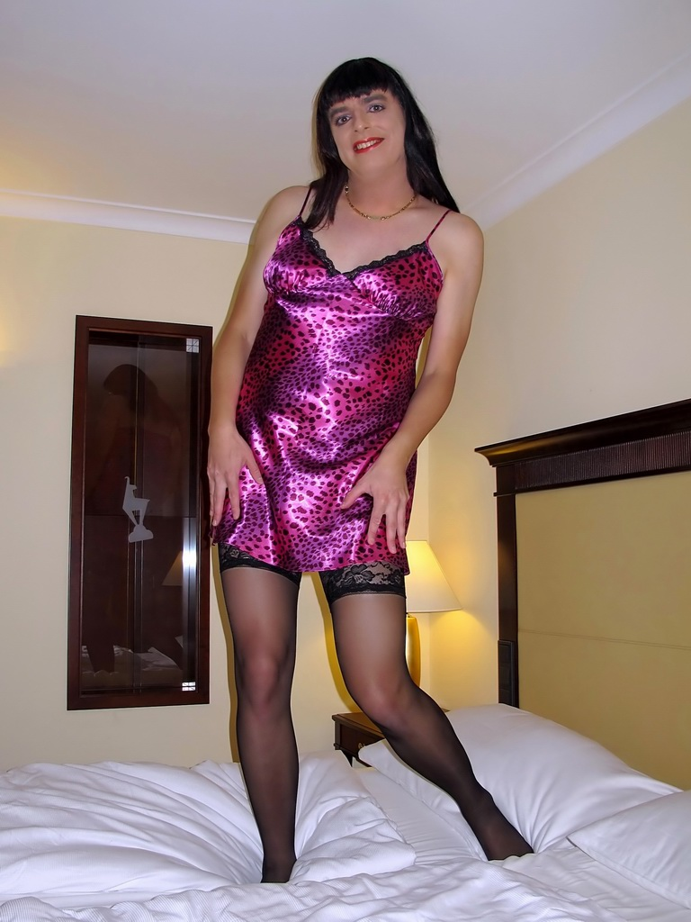 Transvestite in silk