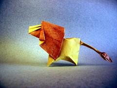 Lion - Dimitris Dalas (Rui.Roda) Tags: origami papiroflexia papierfalten leão león lion dimitris dalas