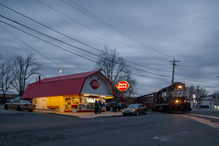 Back In Business (Darryl Rule's Photography) Tags: aestaley april bridge cpdq clouds dq dairyqueen delmoorave emd freight freighttrain gp382 lhf local longhoodforward morrisville necorridor night northeastcorridor railroad railroads spring staley streetrunning train trains ypmor1