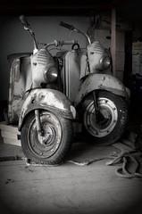 Puch (Bettina.Gerstb.) Tags: roller puch opel oldtimer cars schrottplatz rost autos rust scrapyard