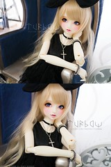 Sonador in black (TURBOW) Tags: doll volks dollfie balljointeddoll bjd toy superdollfie fcs f63 whiteskin kaleidoll lullabypoemwig enchanteddolleyes edeyes sqlabdg61