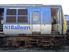 Ballymena Scrap Line, January 2017 (nathanlawrence785) Tags: nir translink thumper train demu irish rail spoil wagons ballymena