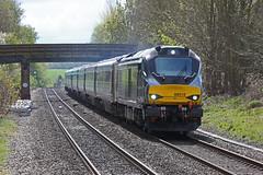 68012 King's Sutton, Northamptonshire (DieselDude321) Tags: 68012 class 68 drs direct rail services chiltern 1r25 1110 london marylebone birmingham moor street kings sutton station south northamptonshire