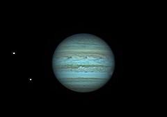 20170411 23-19 Jupiter, Io, Europa IRRGB (Roger Hutchinson) Tags: jupiter io europa apace astronomy astrophotography london solarsystem celestronedgehd11 asi174mm planets