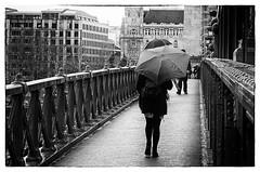 "Umbrella ""Explored"" (++Rob++) Tags: hongarije hungary boedapest budapest zwartwit blackwhite bridge brug umbrella paraplu"